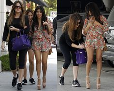 Kourtney Kardashian in Isabel Lu Romper | http://www.celebrityfashionista.com/kourtney-kardashian/isabel-lu-romper-paris-print/