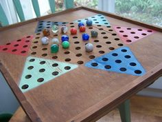 Chinese Checkers Wooden Game Board
