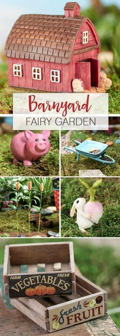 Spring is almost here and your fairies need to spruce up the farm for the new growing season! <<Barnyard Fairy Garden>>