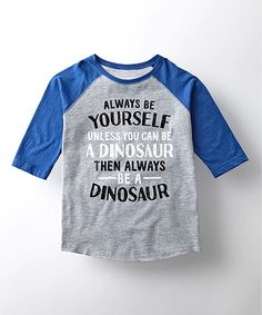 Athletic Heather & Royal 'Always Be Yourself' Tee - Toddler & Kids