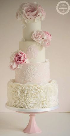 Wedding cake idea; Feature Cake: Cotton and Crumbs