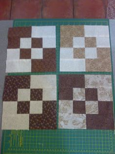 So easy and cute Quilt Blocks. Some weird language at the link... But the pic looks simple enough.