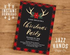My favorite things christmas party invitations printed song lyrics christmas party invitations etsy stopboris Image collections