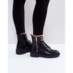 RAID Jenny Lace Up Boots (80 AUD) ❤ liked on Polyvore featuring shoes, boots, ankle booties, black, lace up ankle boots, black flats, black pointed booties, black lace up booties and ankle boots