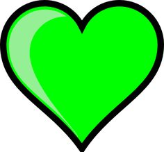 neon-green bubble heart