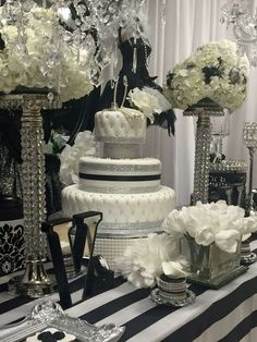 What a glamorous 21st Birthday!! Just look at that fantastic cake!!! See more party ideas and share yours at CatchMyParty.com