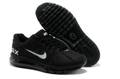 2013 Air Max Black White Mens Running Shoes