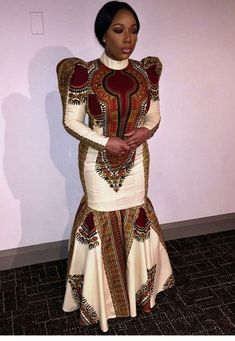 African Women's Clothing/ Dashiki women's dress / Ankara Long Gown / African Fabric Attire / Wedding Source by etsy clothes wedding African Dresses For Women, African Print Dresses, African Attire, African Wear, African Fashion Dresses, African Women, African Prints, African Fabric, African Outfits