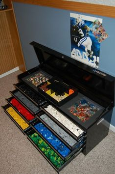 Can't afford this one, but a toolbox is a creative means of Lego storage. Something to consider!