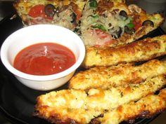 My HCG Diet Recipe Blog: Cauliflower Bread Sticks - HCG Phase 2 & 3