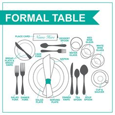 How to Set a Formal Table - from Aki-Home