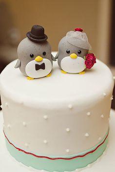 18 Creative Wedding Cake Topper Inspiration Ideas ❤ See more: http://www.weddingforward.com/wedding-cake-topper-ideas-inspiration/ #weddings #cakes