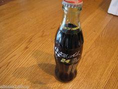Coca-Cola classic coke bottle 8 OZ RARE 1995 Winston cup champion Jeff Gordon 24