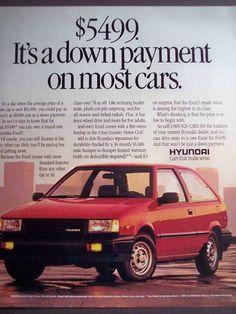 Hyundai vintage advertisement