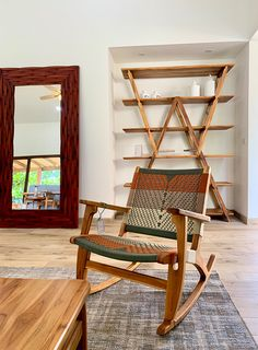 We're loving this custom color combination on our Masaya Rocking Chair. It goes perfectly with all our wood finishes. Modern Wood Furniture, Custom Furniture, Rocking Chair, Trees To Plant, Contemporary Design, Color Combinations, Hardwood, Traditional, Diy