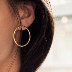 Simple Round Circle Big Earrings For Women Bijoux 2017 New Trendy Jewelry Earings Gold color-in Drop Earrings from Jewelry & Accessories on Aliexpress.com | Alibaba Group