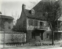 Oldest House in Savannah - Ogelthorpe Ave across from fire station