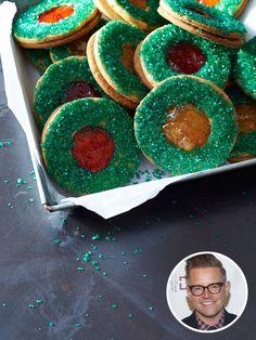 Richard Blais' Jelly Linzer Wreaths