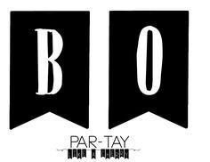 "Halloween ""boo"" banner free printable"