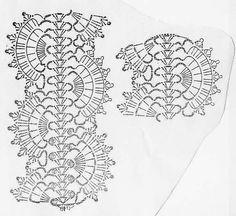 TRICO y CROCHET-madona-mía: Bufanda a crochet ( gaanchillo) con patrón de puntos Crochet Hairband, Crochet Belt, Crochet Diagram, Crochet Trim, Crochet Scarves, Irish Crochet, Crochet Shawl, Crochet Motif, Crochet Clothes