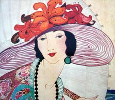 VOGUE Magazine Cover Poster Print Illustrated by Helen Dryden June 1919 Lady in Hat Vogue Poster Boo Vogue Magazine Covers, Vogue Covers, Vintage Books, Vintage Posters, Kunst Poster, Vintage Vogue, Vintage Fashion, Old Magazines, Vintage Circus