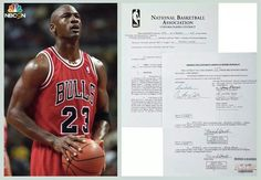 Micheal Jordan contract on auction