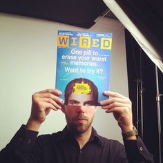 joepug via Instagram: Shooting for @wired at #ted2012 - what better time for a #memoryface