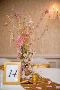 LOVING these beautiful, intricate, DIY wedding centerpieces | East Windsor NJ | Windsor Ballroom