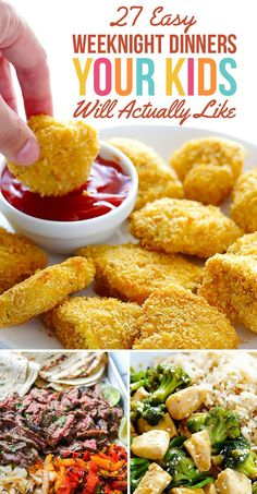 27 Easy Weeknight Dinners Your Kids Will Actually Like – so many yummy looking meals in here! 27 Easy Weeknight Dinners Your Kids Will Actually Like – so many yummy looking meals in here! Easy Dinner Recipes, Baby Food Recipes, Kids Dinner Ideas Healthy, Kids Meal Ideas, Supper Ideas For Kids, Healthy Meals For Kids, Wasy Dinner Ideas, Dinner Ideas For Toddlers, Quick Dinner For Kids