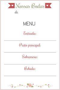 menu cardapio jantar romantico