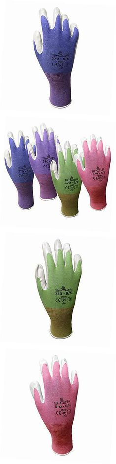 Gardening Gloves 139864: 12 Pack Atlas Nt370 Atlas Nitrile Garden Gloves    Medium (Assorted