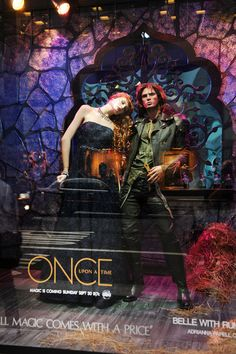 "Bloomingdale's 59th Street ""Once Upon a Time"" window display - BELLE + RUMPELSTILTSKIN <3 <3 <3"