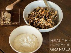 Healthy Homemade granola #recipe #mangiona
