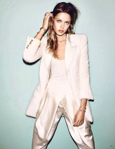 la modella mafia Frida Gustavsson x Vogue Germany December 2013 photographed by Hasse Nielsen