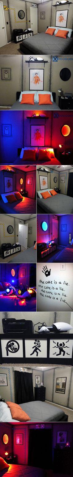 Amazing Portal-themed Bedroom