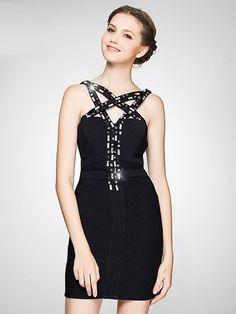Criss cross bandage dress