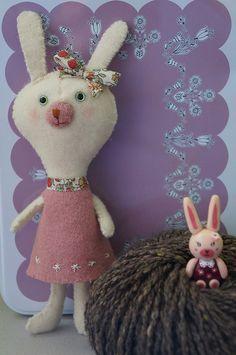 Petit et grand lapinous by mademoiselle Kim