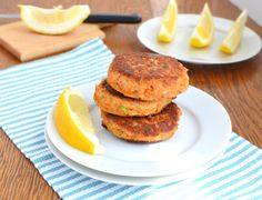 Paleo Salmon Cakes (Whole30) that are super easy to make and very flavorful! Try these Omega 3 rich and economical wild salmon cakes! Low fodmap and egg options! Grain-free, dairy-free, low-carb.
