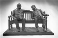 Franklin D. Roosevelt and Winston Churchill bronze statues, sitting on a bench in Mayfair, London French Artists, Art World, Sculptures, Mayfair London, France, Winston Churchill, Roosevelt, Statues, Art Ideas