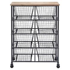 Found it at Wayfair - Serving Cart in Black - Coffee Station??
