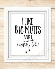 I like big mutts and I cannot lie I love my dog home decor