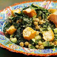 Caesar salad vegana - Chef in Camicia Vegan Junk Food, Vegan Sushi, Vegan Smoothies, Caesar Salad, Italian Recipes, Vegetarian Recipes, Food Porn, Good Food, Lunch