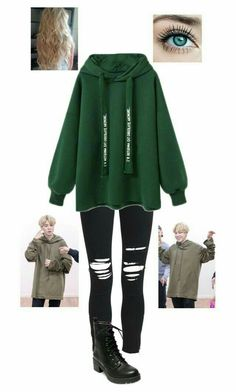BTS Jimin Inspired Outfit A fashion look from January 2018 by bazingabrittany featuring AMIRI and Madden Girl Kpop Fashion Outfits, K Fashion, Edgy Outfits, Cute Casual Outfits, Grunge Outfits, Korean Fashion, Korean Outfits Kpop, Fashion Black, Fashion Ideas