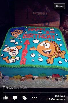Buttercream Bubble Guppies Cake