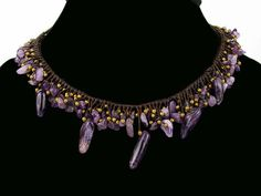 Amethyst Rain Droplets Necklace – by Global Groove Made fair trade in Thailand by Ahsu Pinned by www.globalgroovelife.com
