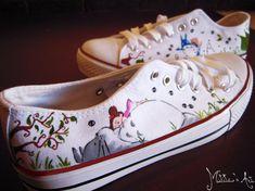 Studio Ghibli hand painted shoes series / Totoro & por MatitasArt