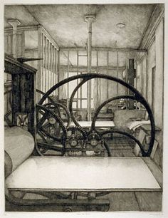 Have always loved this etching of the studio by Erik Desmaziéres
