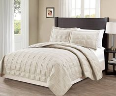 Ready for bedroom remodel photos. Mk Collection King/California king over size 118″x106″ 3 pc Target Bedspread Bed-cover Quilted Embroidery solid Beige New - http://aluxurybed.com/product/mk-collection-kingcalifornia-king-over-size-118x106-3-pc-target-bedspread-bed-cover-quilted-embroidery-solid-beige-new/