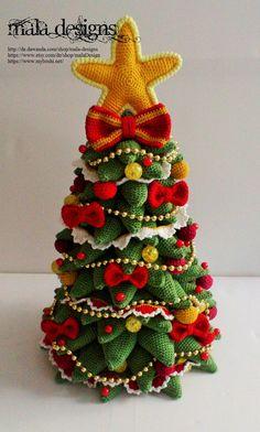 Kerstboom gehaakt patroon door mala designs van malaDesign op Etsy