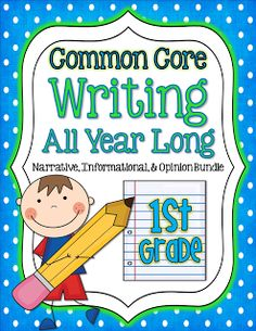 Crazy for First Grade: Common Core- Writing Opinions All Year Long!!!!